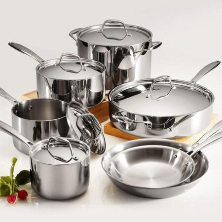 12pc stainless steel cookware